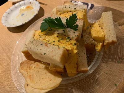 加古川 小料理酒房 みやもと タマゴサンド