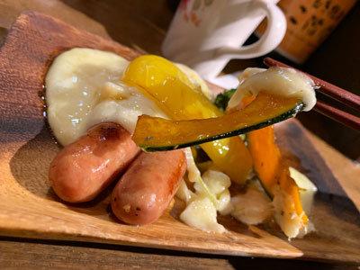 姫路 TSUMUGIYA ソーセージと温野菜