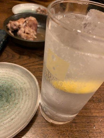 大阪 大衆酒場 はせ川 レモンチューハイ