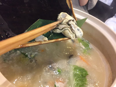 姫路 天晴水産 ぽっぽ家 牡蠣 鍋