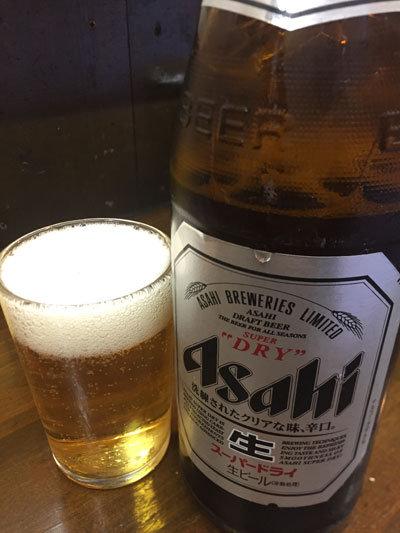 神戸 立吞み 岡八 瓶ビール