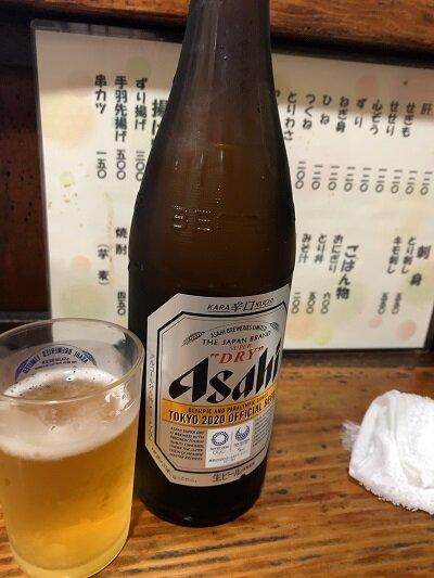 姫路 焼き鳥 元輔 瓶ビール