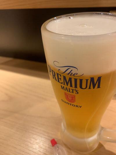 姫路 魚酒場 ジェームス吉田屋 生ビール