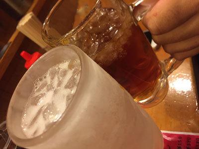 姫路 ラーメン ごますり家 乾杯