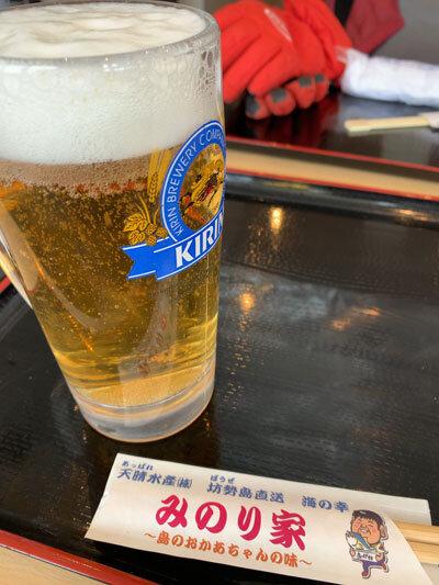 姫路 天晴水産 みのり家 ビール