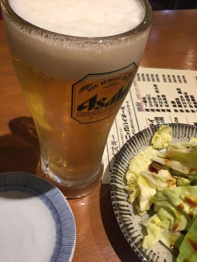 姫路 おみぞ筋 焼鳥 みこはち屋 生ビール