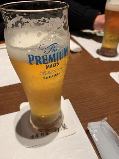 姫路 播磨旬菜 菊屋 生ビール