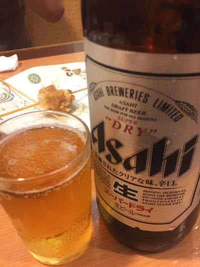姫路 餃子の王将 駅前店 瓶ビール 大