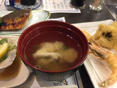 姫路 ぽっぽ家 前どれ会 味噌汁