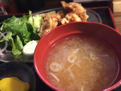 姫路 立呑み 鶴亀八番 ランチ 味噌汁