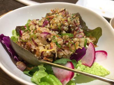 姫路 ジビエ料理 Pinari クスクスのサラダ