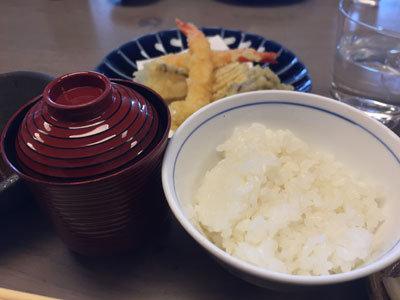 白鹿クラシックス 海老と冬野菜の天麩羅盛合せ ご飯