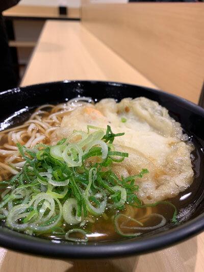 姫路 まねき えきそば 天ぷらそば