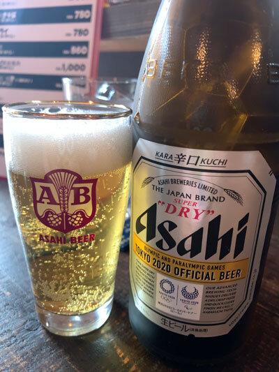 姫路 居酒屋 BOOZE 瓶ビール
