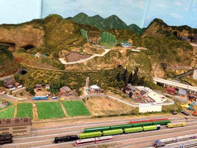 宍粟市 いろり鉄道 まち模型