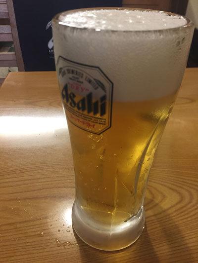 大阪 居酒屋 八八八 ぱっぱや 生ビール