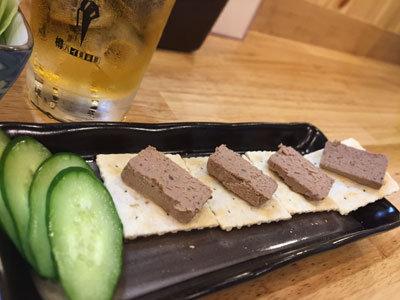 神戸 三ノ宮 焼鳥 のんちゃん レバーペースト