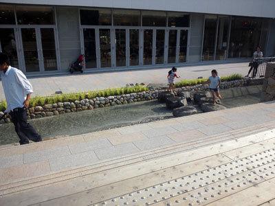 姫路 サンクンガーデン 水浴び