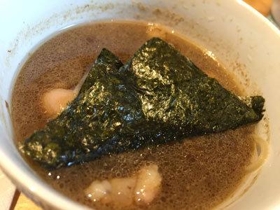 姫路 ラーメン 麺哲 つけ麺 海苔