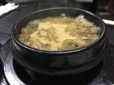 神戸 長田 韓国料理 釜山 いわしスープ チョンオリクッ