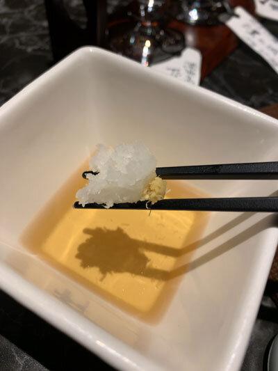 姫路 創作料理 夢番地 天ぷら 大根おろし