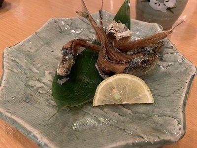 神戸 磯魚料理 いわし屋 イワシ骨せんべい