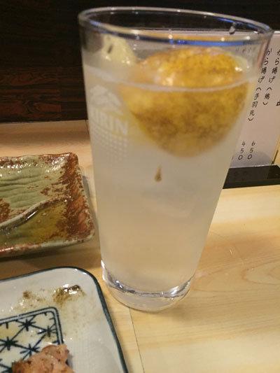 姫路 西井のやき鳥一番 レモンチューハイ