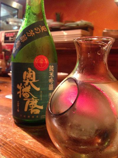 明石 肉焼食堂 もりしん 日本酒 奥播磨