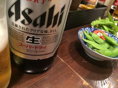 姫路 立呑み じゃがいも 瓶ビール