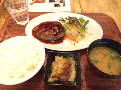 姫路 立吞み 肉バル TSUMUGIYA ハンバーグランチ