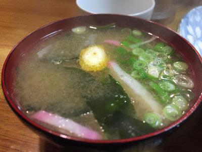 神戸 食堂 出雲食堂 味噌汁