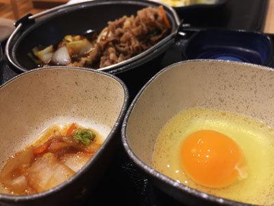 吉野家 牛すき鍋 卵弐個