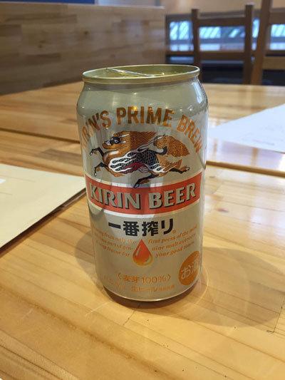 昼下がり 打合せ 缶ビール