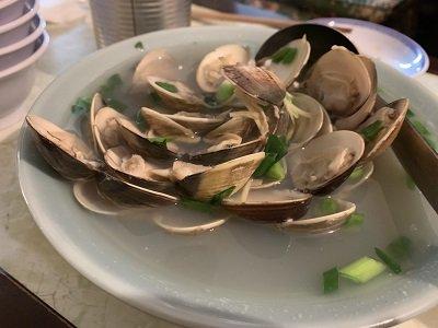 神戸 元町 広東料理 鷹楽園 蛤の酒蒸し