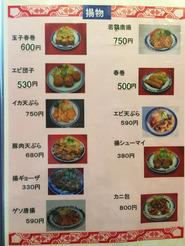 姫路 香港料理 吉祥華 揚げ物メニュー