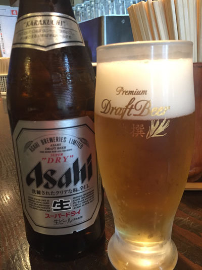 姫路 うどん やました 瓶ビール