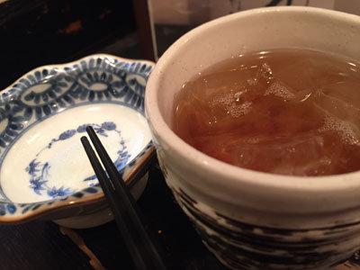 神戸 貝汁そば ボンゴレ亭 麦焼酎 ウーロン茶割り
