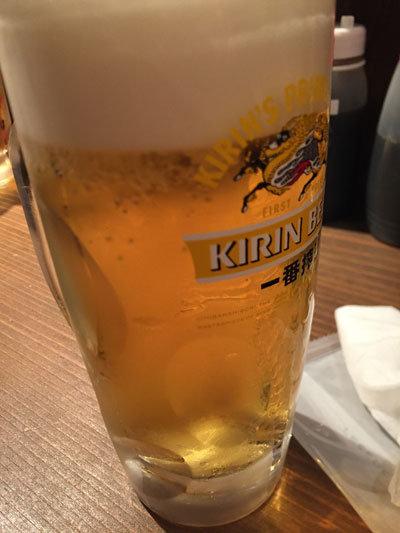 姫路 立呑み 鶴亀八番 生ビール