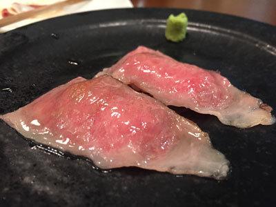 明石 ステーキ酒場 MORISHIN 肉寿司