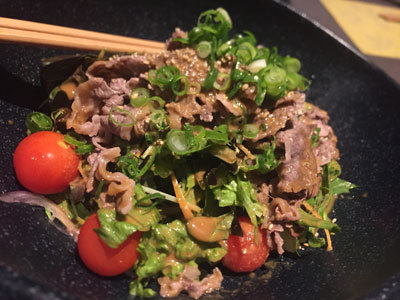 姫路 和み庵 篤屋 肉サラダ