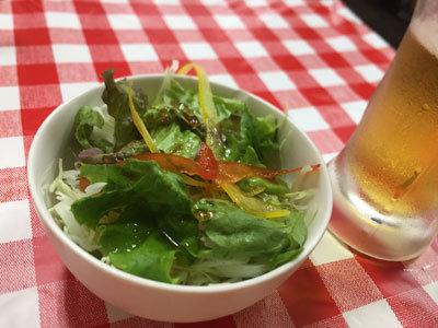 姫路 ステーキのまるまさ サラダ