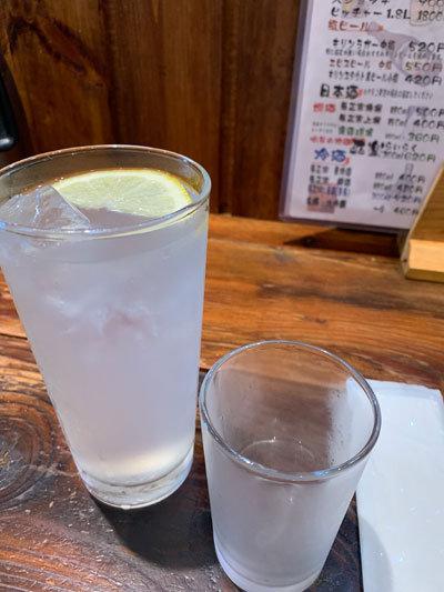 明石 お好み焼き 道場 チューハイレモン