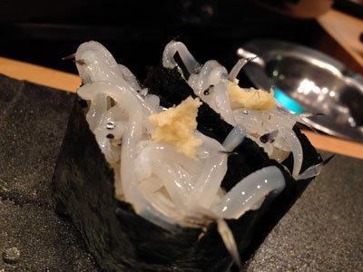 大阪 寿司 市場ずし 白魚にぎり