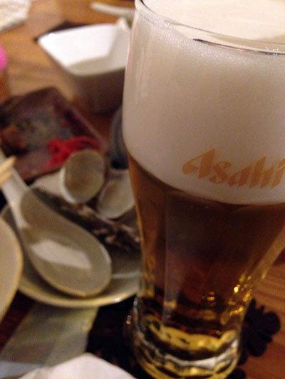 赤穂 牡蠣 かましま 生ビール