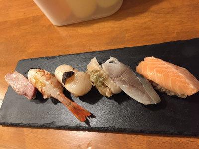 姫路 酒肴 魚寿司 極み寿司 盛合せ6貫