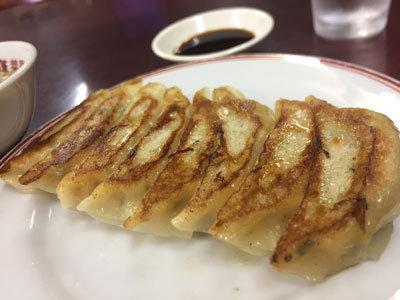 滝の茶屋 中華料理 蓬莱園 餃子
