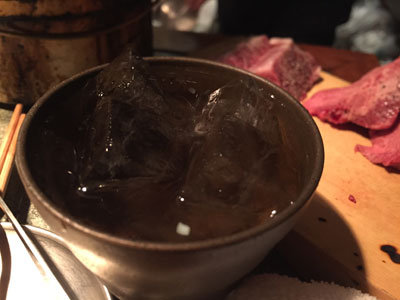 姫路 炭火焼肉 金べこ 梅酒 ロック