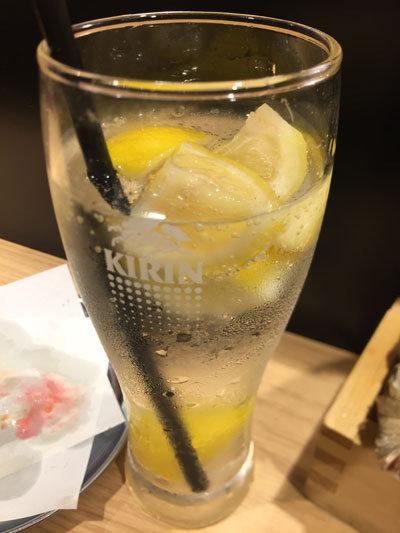 姫路 立吞み 卯の助 凍り レモン チューハイ