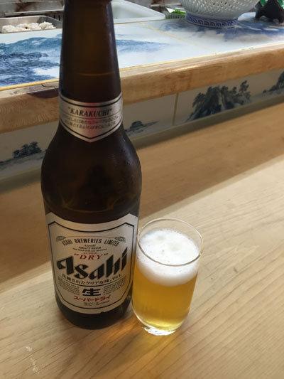 明石 江井ケ島 市松寿司 瓶ビール