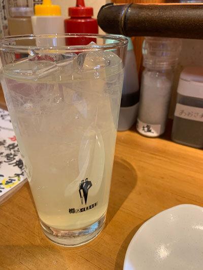 姫路 立呑み 蛸丸水産 よだレモンサワー
